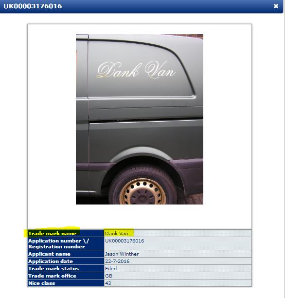 Dank Van Trademark Application