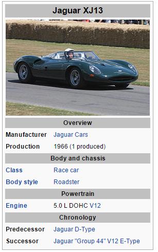 Jaguar XJ13, & Coca Cola Frozen