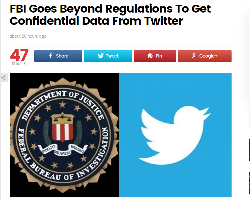FBI Goes Beyond Regulations To Get Confidential Data From Twitter #Twitter #FBI #Privacy #DataProtection