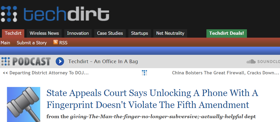 't Violate The Fifth Amendment In The US - Interesting Read From TechDirt #IP #IntellectualProperty