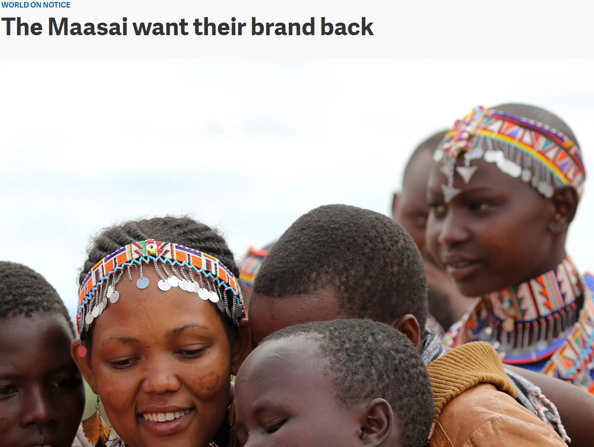 IP - Trademark - The Maasai Want Their Brand Back - Interesting Article On Branding And Trademarks #Trademark #Maasai