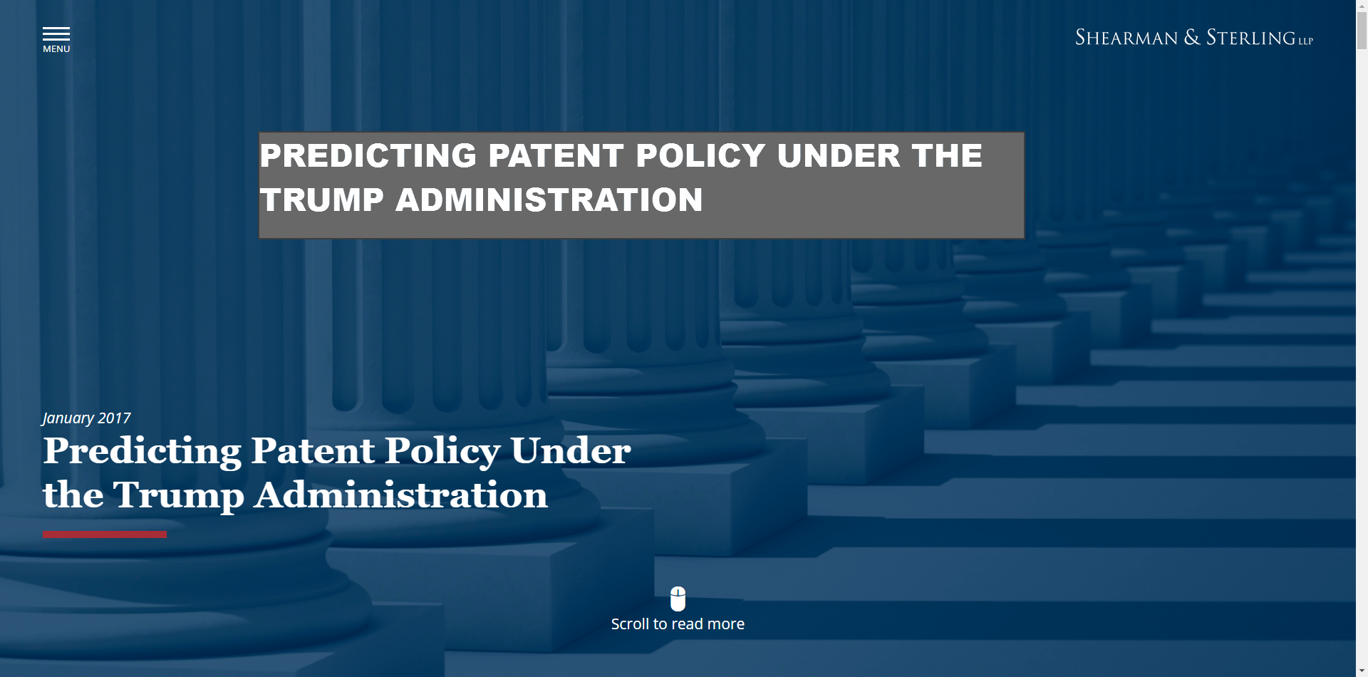Long Read - Predicting Patent Policy Under The Trump Administration - #Patents
