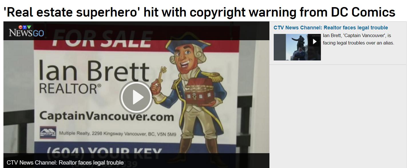' Hit With Copyright Warning From DC Comics #DCComics #IanBrett #RealEstateSuperhero #Superhero