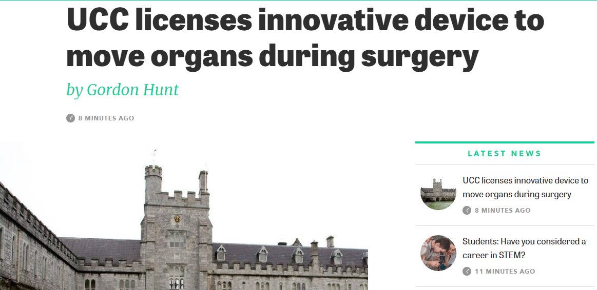 UCC Licences Innovative Decide To Move Organs During Surgery - Silicon Republic Article #UCC #Innovation #startup