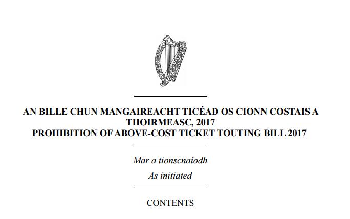 Ticket Tout Bill 2017 – Why It Wont Work