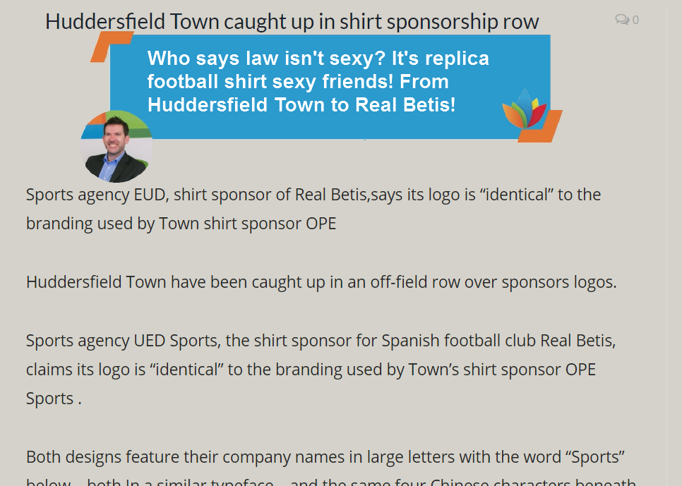 Who Says Law Isn't Sexy. It's Replica Football Shit Sexy Friends! From Huddersfield Town To Real Betis! #TM #Trademarks.